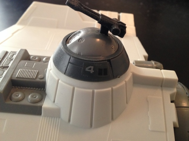 Star Bird toy gun turret 3d printed
