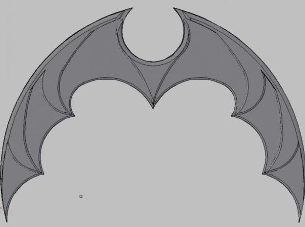 Batarang 3d printed Description