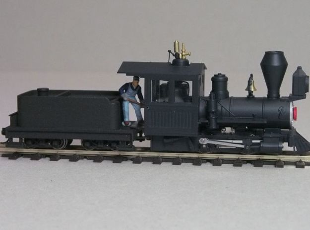 Small 8 wheel Tender for HOn30 F&C loco, ver.B 3d printed