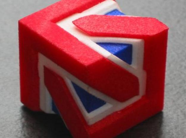 Union Jack Cube 3d printed assembled 3