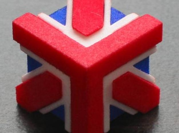 Union Jack Cube 3d printed assembled 1