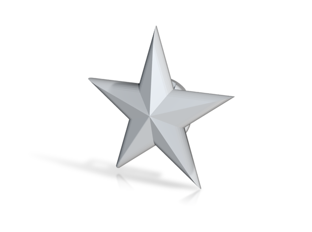 SSM-STAR-BASICloft 1.00 3d printed Star now available in Various Metals