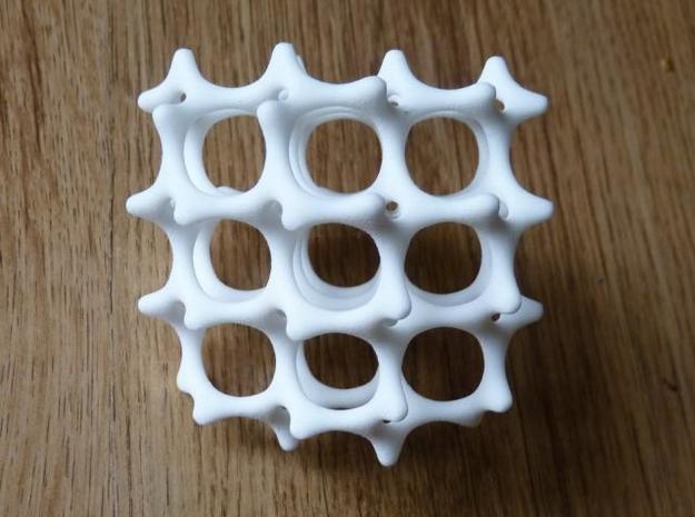 Gyroid Bone 3d printed Nine Hole View