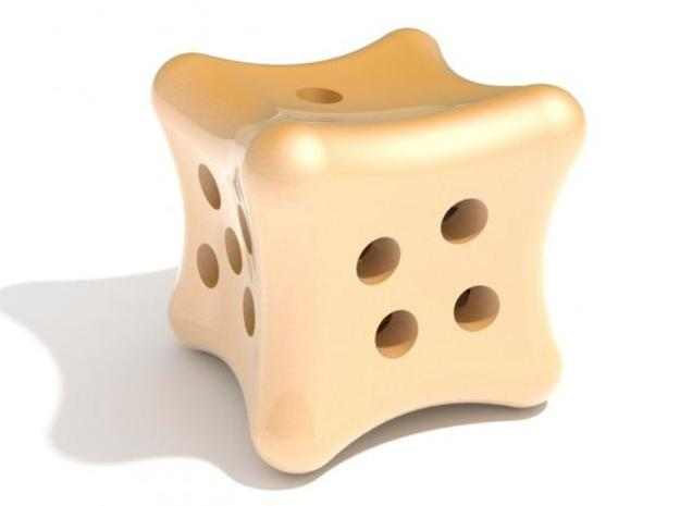 Dice a gogo 3d printed Yellow Nice Dice