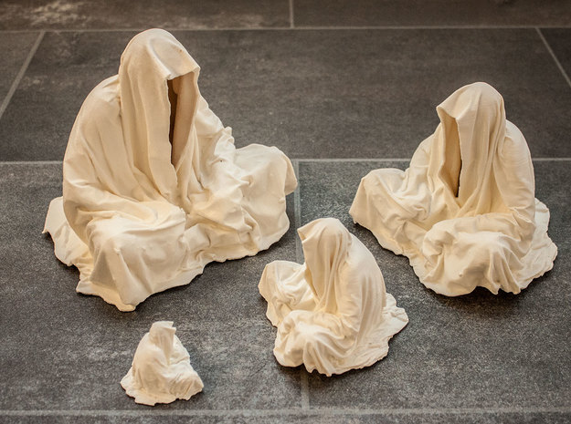 guardians of time keepers ghost statue cloak coat 3d printed Guardians of Time by Manfred Kielnhofer