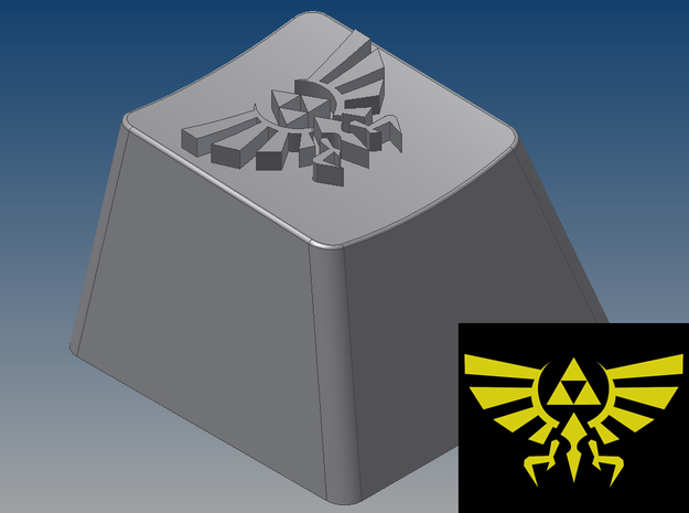 Legend of Zelda - Hyrule/Royal Crest (R4, 1x1) 3d printed