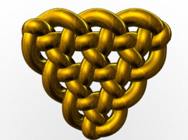Celtic Knots 10 3d printed Rendered in gold with Maya.