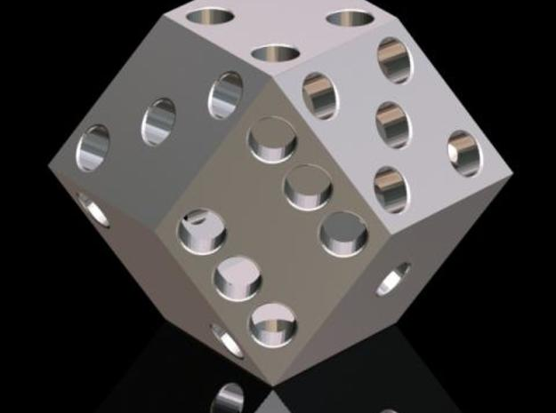 Rhombic die (2.5 cm) 3d printed Description