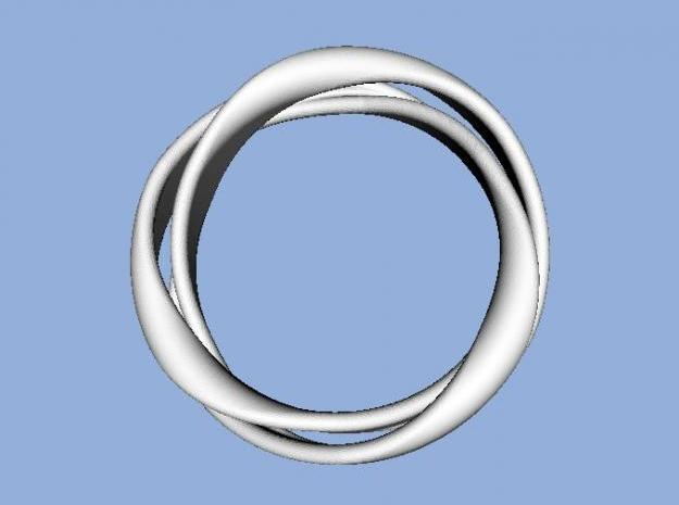 3-Twist Ring 3d printed