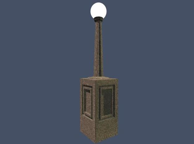 Light post 1/43 3d printed O scale light post globe available separately.