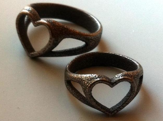 Silvia Heart ring 3d printed Description