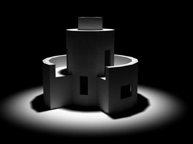 Double Magnus 3d printed Architecture from 'L'Ensemble', interactive project http://www.oe-p.net/shiva/