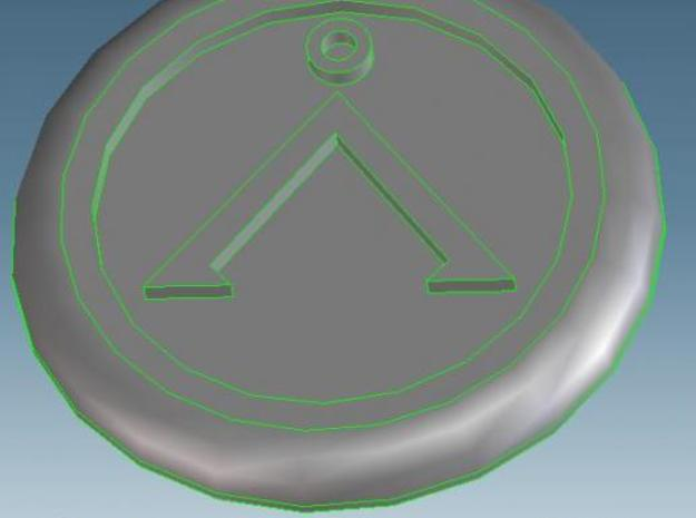 Generic base Ø30mm - Å symbol 3d printed render view