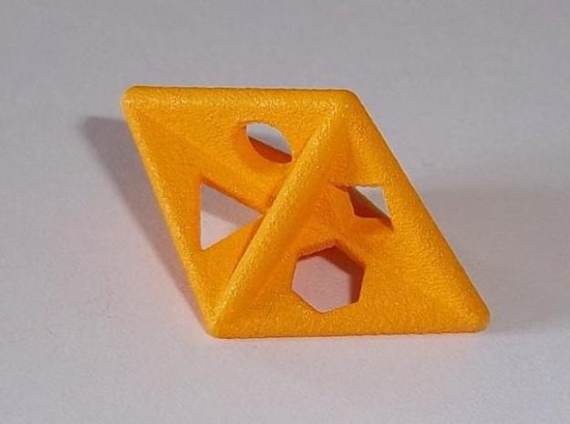 Dipyr D6 (shapes) 3d printed WSF print, acrylic painted