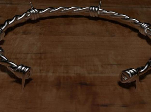 Barbed wire Bracelet 3d printed Rendered with Luxrender