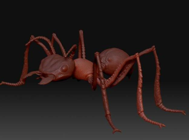 Ant head 3d printed Whole ant render