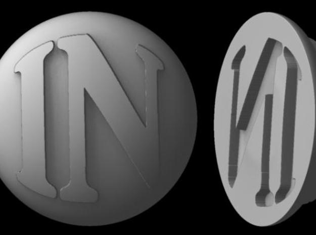 Paperweight - IN 3d printed Rendered image