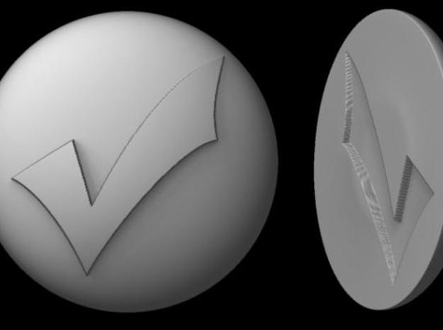 Paperweight - Checkmark 3d printed Rendered image