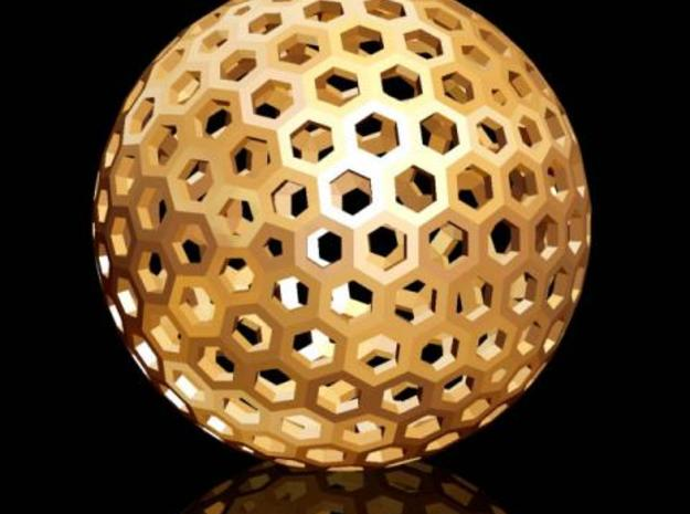 Geodesic Golf Ball (A) 3d printed Description