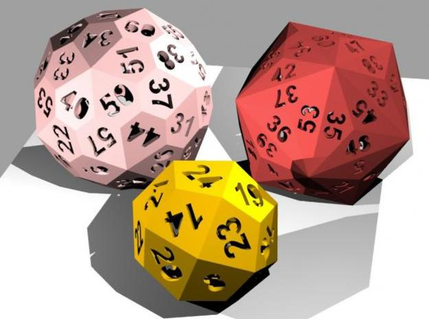 Catalan dice bundle 2 3d printed Rendering
