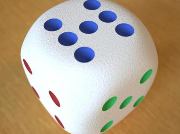 Lucky 7 Dice 3d printed Lucky 7 Dice Full Color Sandstone