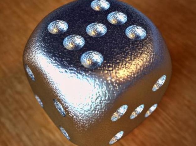 Lucky 7 Dice 3d printed Lucky 7 Dice Stainless Steel
