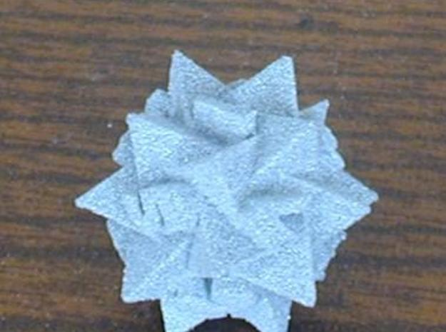 Compound of 5 Tetrahedra as d12 3d printed Printed in Alumide