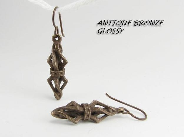 Lantern ear07 3d printed bronze