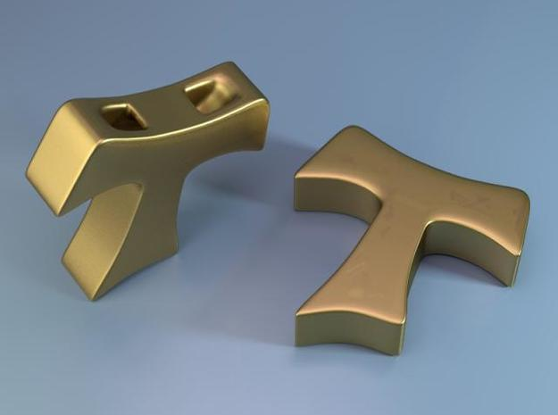 Tau cross pendant SMALL 3d printed Description
