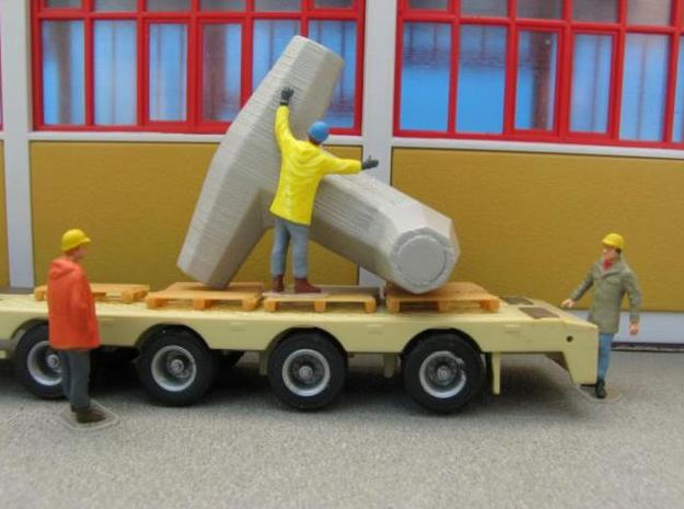 HO/1:87 Dolos 3m kit 3d printed Dolos transport diorama (figures, truck and background not included!)