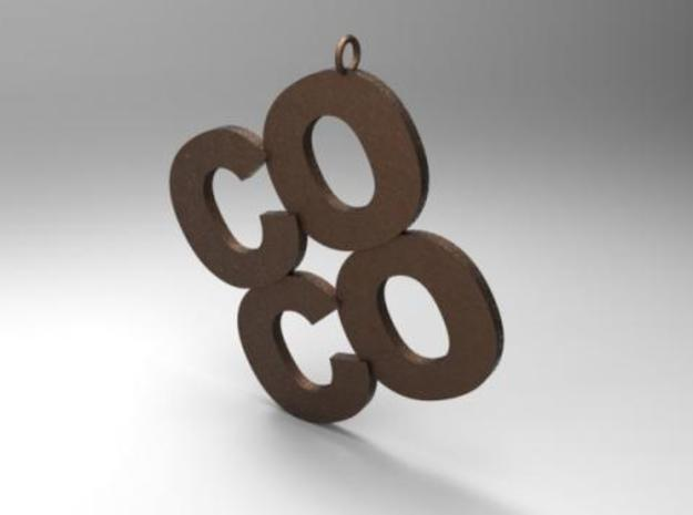 COCO 3d printed Rendered in Bronze