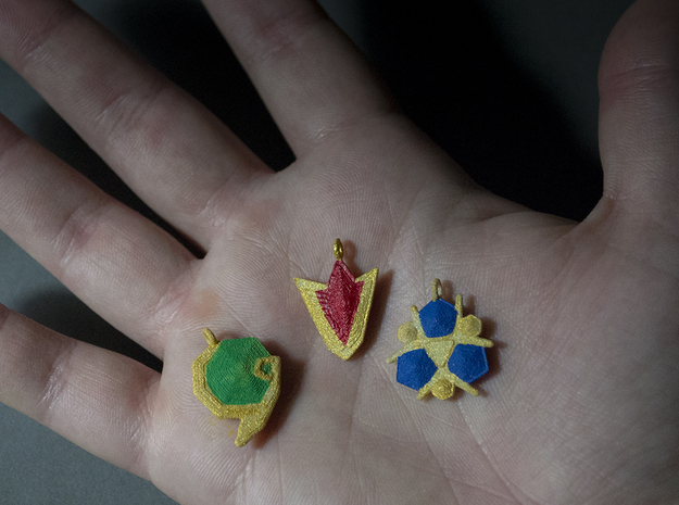Spirit Gems Set 3d printed