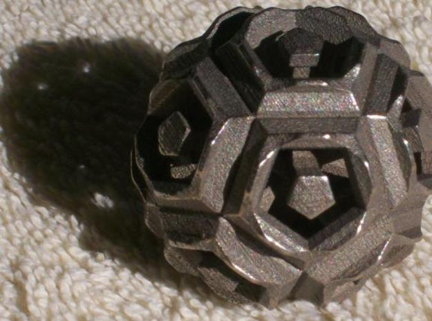 Dodecahedron Doodle 3d printed Stainless steel print