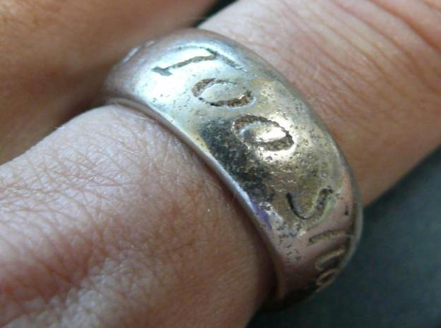 This Too Shall Pass, custom ring size 3d printed Stainless Steel 1