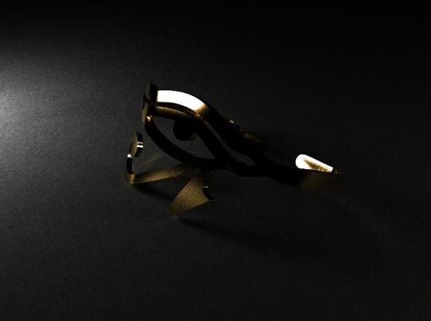 Eye of Horus Two Finger Ring 3d printed Description