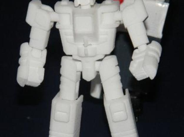"""Salvo"" Gunslinger figure 3d printed Robot mode, front view"