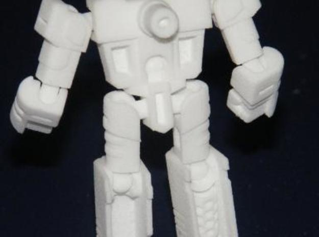 """Salvo"" Gunslinger figure 3d printed Robot mode, rear view"