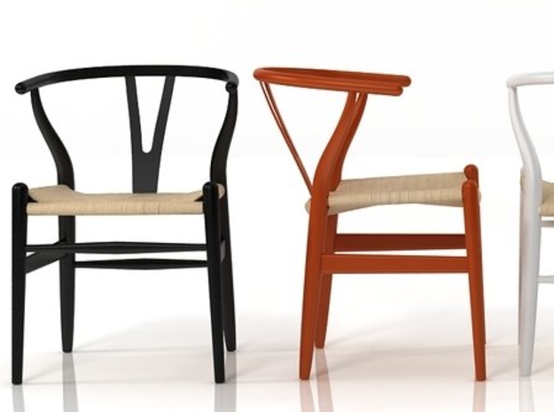 1:12 Modern Dollhouse Chair 3d printed painted in various colors