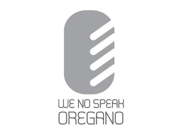 We no speak OREGANO -shaker 3d printed Logo