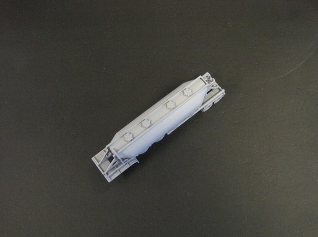 N scale 1/160 J&L/Heil 1636 Dry Bulk Trailer 18 3d printed Even the holes in the catwalks have printed ok.