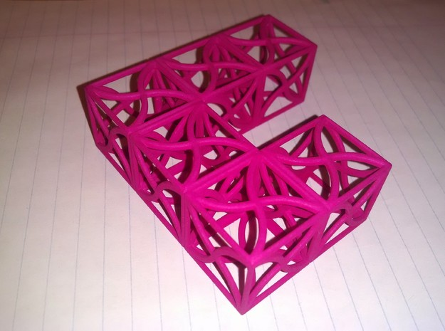 Twirl cubed puzzle part #1 3d printed