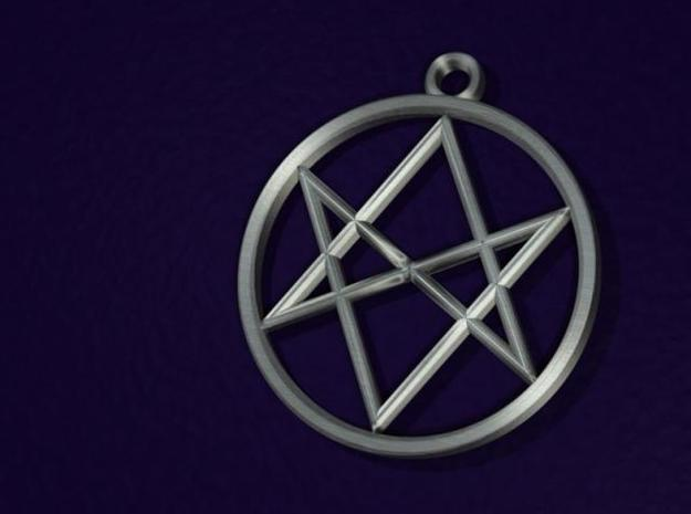 Unicursal Hexagram Pendant 3d printed 3D rendering of pendant.