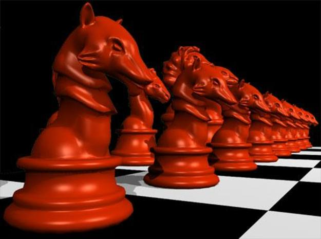 Individual Chess pieces - Animal Kingdom 3d printed Pawn - (red) render in Maya