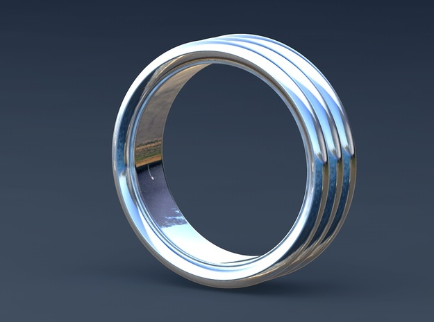 Stacked Ring - US Size 7 3d printed Rendered image