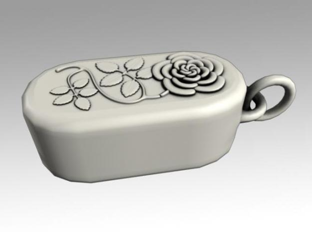 Heartbox Locket (Rose) 3d printed Closed and locked.
