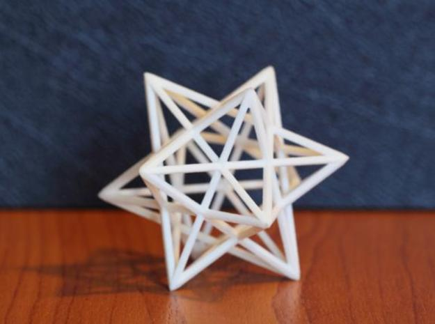 Uniform Beams Medium - Pack C 3d printed WSF - U34 Small Stellated Dodecahedron / U53 Great Icosahedron