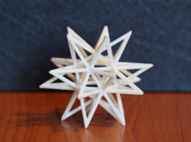 Uniform Beams Medium - Pack C 3d printed WSF - U52 Great Stellated Dodecahedron