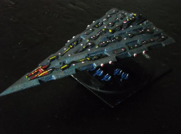 GDH:D302 Delta Superdreadnought 3d printed Painted model (Fighters by Irregular Miniatures)