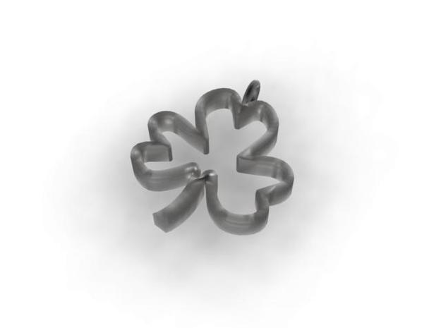 Shamrock Pendant 3d printed rendered view