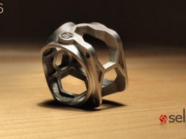1086 ToolRing - size 8 (18,19 mm) 3d printed 1086 ToolRing - Brushed Finish C